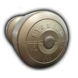 STAMINA Plastic Dumbbell 5kg [ST-800-5CG] - Gold - Barbell / Dumbbell